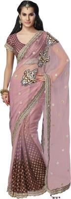 Moh Manthan Self Design Fashion Net, Art Silk, Jacquard Sari