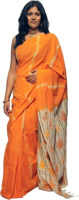 A Big Indian Story Printed Hand Batik Cotton Sari