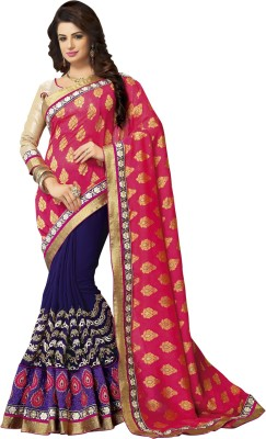 shart Printed Fashion Chiffon Sari
