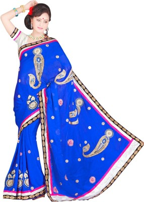 Stylobby Embriodered Bollywood Georgette Sari