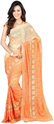 New Look Fashion Self Design, Embriodered Bollywood Pure Georgette Sari