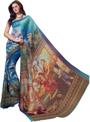 Radhika Sarees Printed Daily Wear Georgette Sari