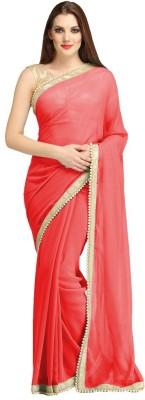 Fashion Gallery Plain Fashion Georgette Sari