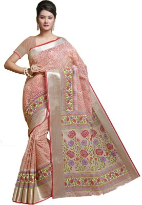 M.S.Retail Printed Gadwal Cotton Saree(Multicolor) at flipkart