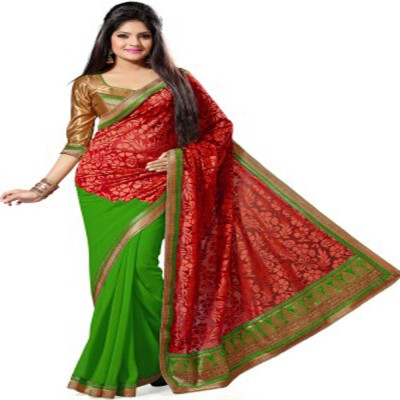 Krishna Ki Leela Embellished Bollywood Brasso Sari