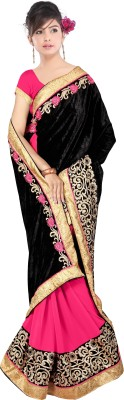 Radhe Krishna Creation Embriodered Bollywood Synthetic Georgette Sari