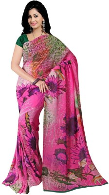 Omkarcreation Printed Daily Wear Pure Georgette Sari