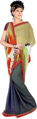 Janya Self Design Thirubuvanam Georgette Sari