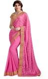 Ashika Printed Fashion Satin Saree (Pink...