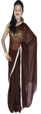 Kays Plain Fashion Chiffon Sari