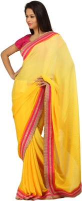 Charming Solid Fashion Crepe Sari