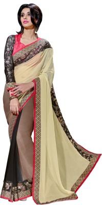 Aagamanfashion Self Design Fashion Synthetic Georgette Sari