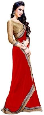 Myfab Embellished Fashion Synthetic Sari
