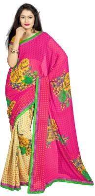 AC Creation Self Design Fashion Chiffon Sari