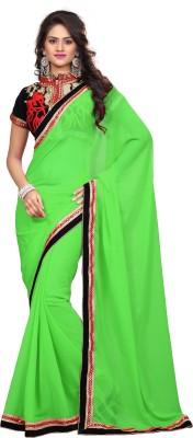 Giriraj Fashion Plain Bollywood Georgette Sari