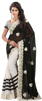 Moni Fashion Embriodered Fashion Georgette Sari