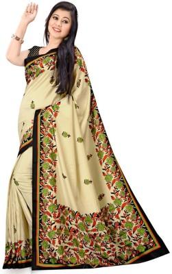 Sarovar Sarees Self Design, Geometric Print, Floral Print, Striped, Printed Fashion Art Silk Sari