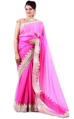 Janaknandini Embriodered Fashion Georgette Sari