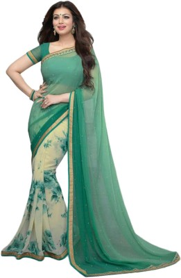 BlackBlanketFab Self Design Bollywood Georgette Sari