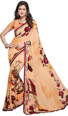 PSHOPEE Printed Fashion Chiffon Sari