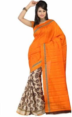 Lakshmi Lifestyle Printed Bhagalpuri Silk Cotton Blend Sari