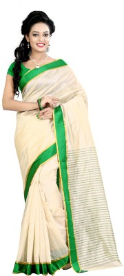 Vedantlifestyle Solid Daily Wear Polycotton Sari
