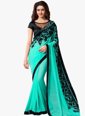 Eshopper Embriodered Fashion Georgette Sari