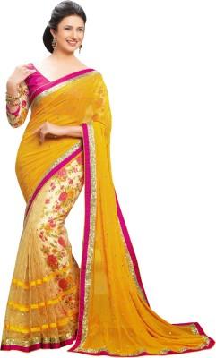 Stylefunia Embriodered Fashion Georgette Sari