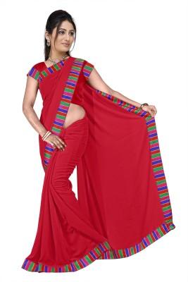 Anerra Plain Fashion Handloom Georgette Sari