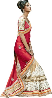 EthnicBasket Embriodered Fashion Jacquard Sari