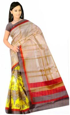 Sareeshouse Printed Bhagalpuri Silk Cotton Blend Sari