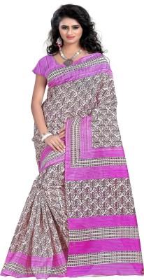 Luga Printed Bhagalpuri Art Silk Sari