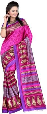 Gazbiyya Printed Fashion Art Silk Sari