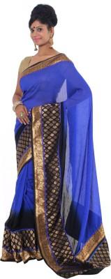 Vikrant Collections Plain Chanderi Chiffon Sari