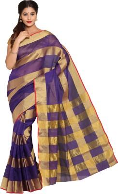 Parchayee Striped Fashion Art Silk Sari