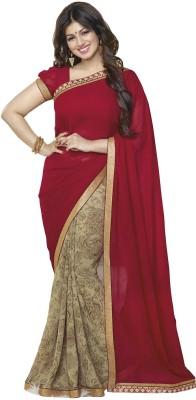 ZofeyDesignerSarees Printed, Plain Bollywood Georgette Sari