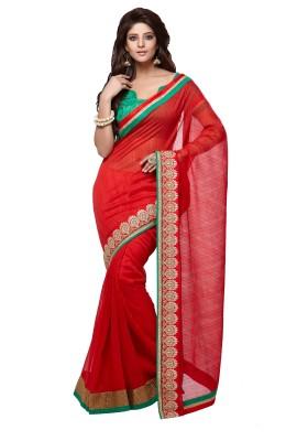 Nanda Silk Mills Solid Bhagalpuri Art Silk Sari