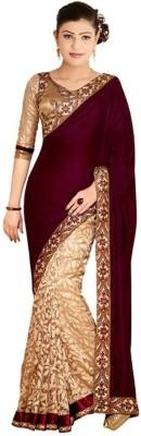 Ethnic Era Self Design Bollywood Velvet Sari