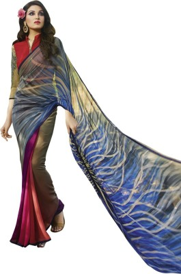 Vastrani Printed Fashion Georgette Sari