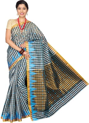 Pavechas Checkered Banarasi Cotton, Silk Sari