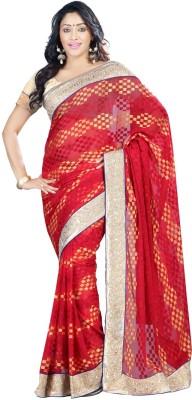 Jay Textile Self Design Fashion Viscose Sari