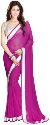 Bhavna Fashion Plain Bollywood Handloom Georgette Sari