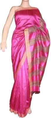 KBANKISH Self Design Bhagalpuri Tussar Silk Sari