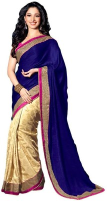 Shraddha Fashion Striped Bollywood Georgette Sari