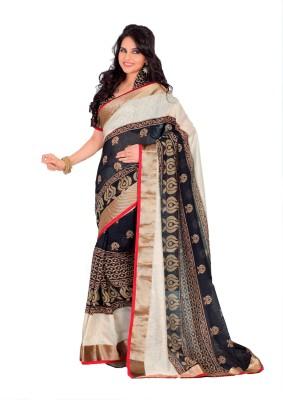 Ethnic Andaaz Embellished, Self Design Fashion Art Silk, Cotton Sari