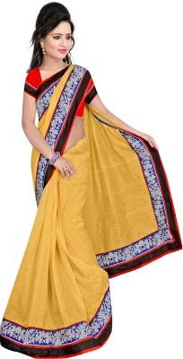 DIVINEFASHIONSTUDIO Self Design Fashion Chanderi Sari