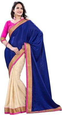 Palav Creation Solid Bollywood Handloom Velvet, Crepe Sari
