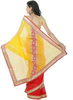 Shree Saree Kunj Solid, Self Design Bollywood Kota Cotton, Patola Sari