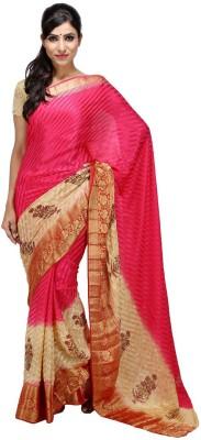 KALYANAM Printed Maheshwari Crepe Sari