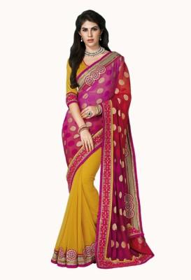 Vastrangsarees Embriodered Fashion Art Silk Sari